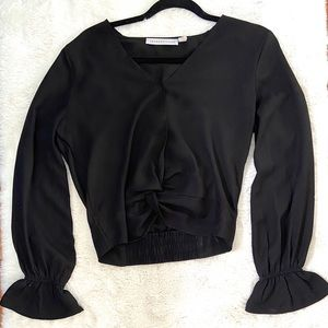 Polyester Ruched Long Sleeve